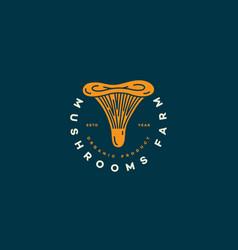 Chanterelle mushroom logo vector