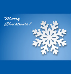 christmas greeting card winter snowflake vector image
