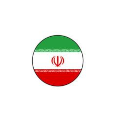 Circle flag iran design vector