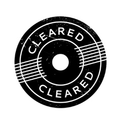 Cleared rubber stamp vector
