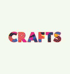 Crafts concept word art vector