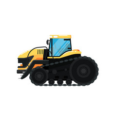 crawler agriculture tractor vector image