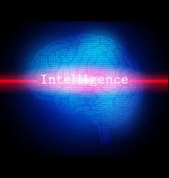 creative brain concept background vector image