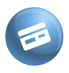Credit card icon simple style vector