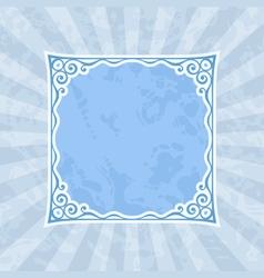 Decorative Blue Vintage Frame and Background vector image