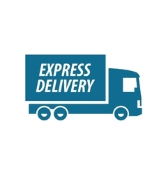 Delivery logo design template transport or vector
