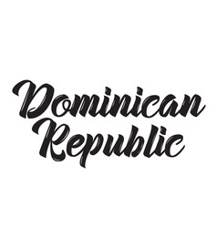 dominican republic text design vector image