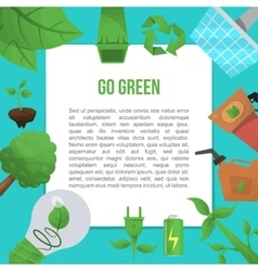 Ecology Flat Poster vector image