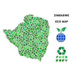 Ecology green composition zimbabwe map vector