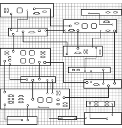 Electrical circuit eps 10 vector