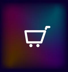 Empty shopping cart icon vector