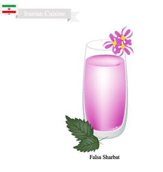 Falsa Sharbat or Iranian Drink From Grewia Asiatic vector image