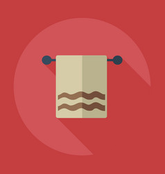 Flat modern design with shadow icons towel vector