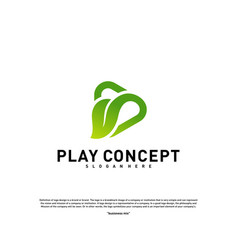 green play logo design concept nature play logo vector image