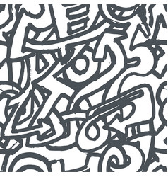 hand drawn sketch of graffiti vector image