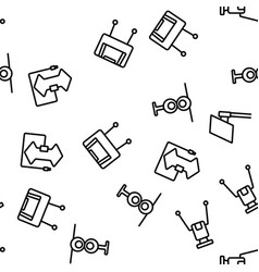 Hdtv antenna device seamless pattern vector