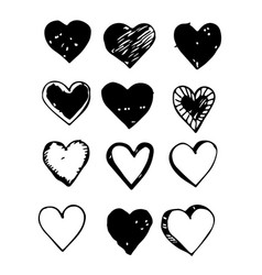heart hand draw icon vector image