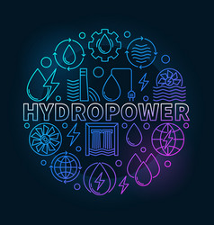 Hydropower round colorful vector