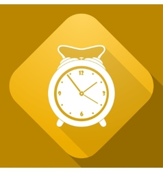 icon of Alarm Clock with a long shadow vector image