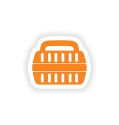 Icon sticker realistic design on paper container vector