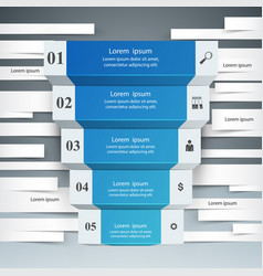 Infographics up the ladder to success business vector