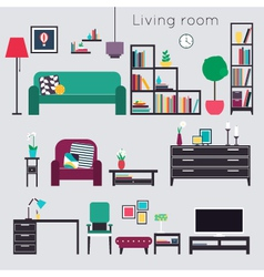livingroomLiving room Furniture vector image