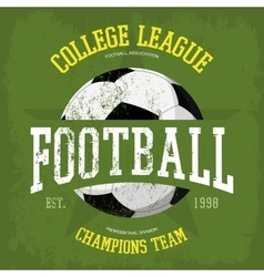 Logo for soccer or football t-shirt vector image