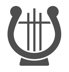 lyre glyph icon musical and ancient harp sign vector image