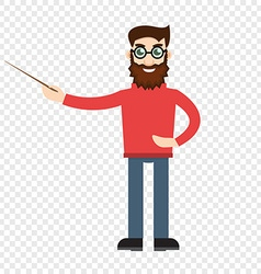 Male teacher on transparent background vector image