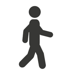 man walking silhouette icon vector image
