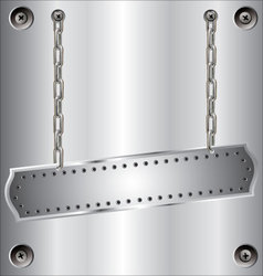 metal background with chain vector image