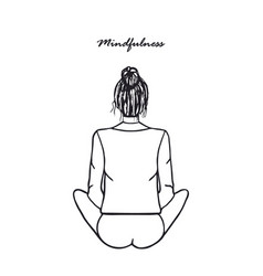 Mindfulness meditation and yoga poster vector