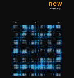 minimalist cover design with color halftone vector image