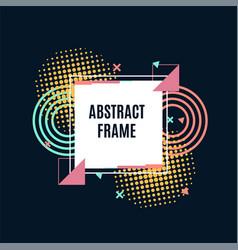modern abstract geometric frame design vector image