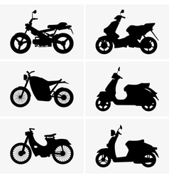Motorbikes and scooters vector image