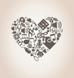 Musical heart8 vector