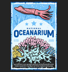 National oceanarium water underworld zoo vector