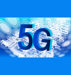 new technology 5g cyberspace background binary vector image