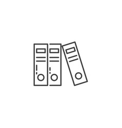 office folders related line icon vector image