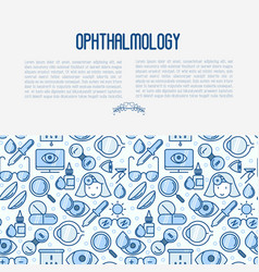 ophthalmology concept with vision care vector image