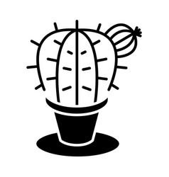 Plant cactus icon black sig vector