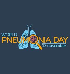 pneumonia day vector image