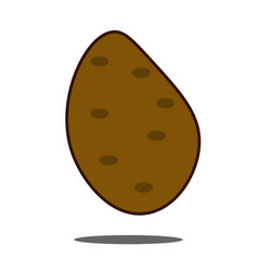 potato icon in flat style on a white background vector image
