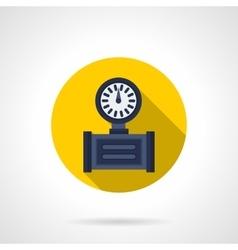 Pressure gauge flat round icon vector