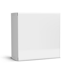 Realistic clear white blank cardboard package box vector