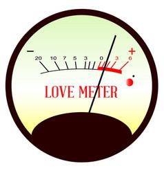 red hot love meter vector image