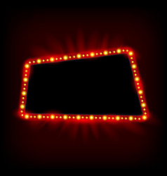 Retro light banner theater cinema sign vector