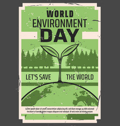 save earth world eco day environment protection vector image