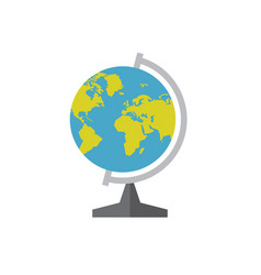 school globe - concept icon in flat graphic design vector image