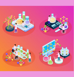 scientific tests isometric set vector image